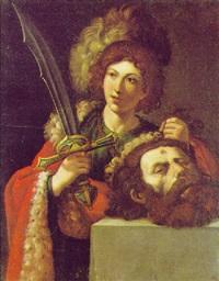 david mit dem haupt des goliath by lionello spada