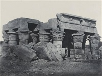 haute-egypte, temple d'ombos by maxime du camp