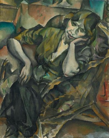 woman in an armchair by georges karpeles kars