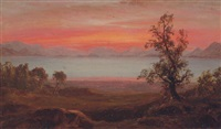 sunset by frederic edwin church