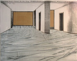 wrapped floors, project for haus lange museum, krefeld by christo and jeanne-claude