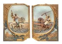 1 paar reliefplatten by baehr und maresch (co.)