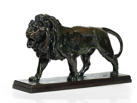 lion qui marche by antoine louis barye