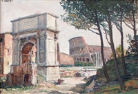 l'arc de titus et le colisée, rome by ange abrate