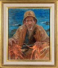 le pêcheur de langoustes royales by lucien lévy-dhurmer
