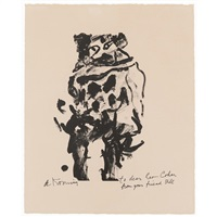 untitled (litho#10) (man standing, facing forward) by willem de kooning