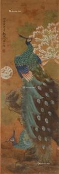 孔雀图 镜片 纸本 by lin yushan