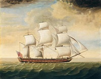 an armed merchant vessel by william (of liverpool) jackson