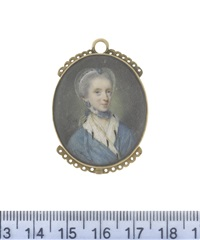 lady georgiana caroline clavering-cowper née carteret by nathaniel hone the elder