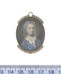 lady georgiana caroline clavering-cowper née carteret by nathaniel hone the elder