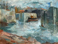 harbour at low tide by ian fleming