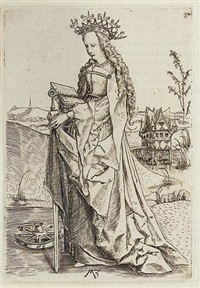 saint catherine by matthaus zasinger