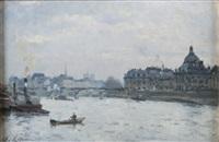 le pont des arts à paris by stanislas lépine