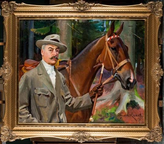 autoportret z koniem by woiciech aldabert ritter von kossak