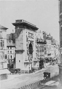 paris, porte st. denis by louis désiré blanquart-evrard