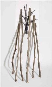 la velocità del vegetale - il lento ripetersi della scultura 6 biforcazioni by giuseppe penone