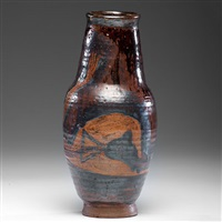 exceptional honey colored vase by sam haile