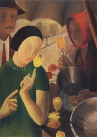 virágárusnál (at the flower-vendor) by györgy miklós