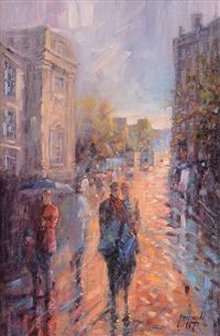 evening rush, grafton st by gerry glynn