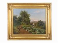 tending the garden by hermann gustave simon
