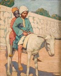 kids on a white mule by dimitrios litsas