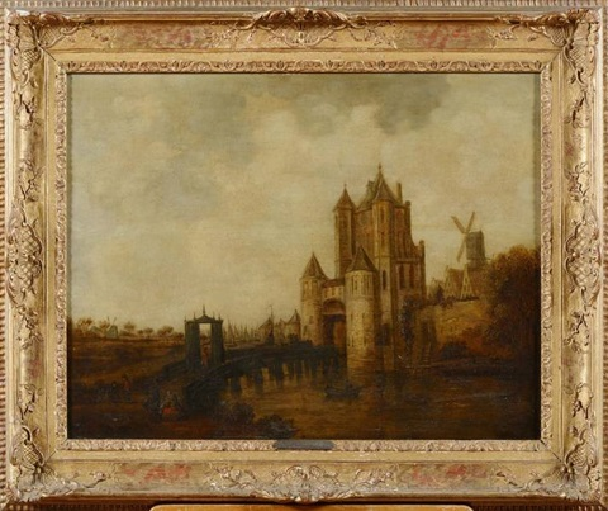 entrée de ville fortifiée en hollande by jan josefsz van goyen