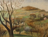 landscape, provence by otakar (othon) coubine