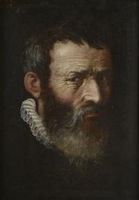 portrait d'homme barbu de trois quart by flemish school (15)