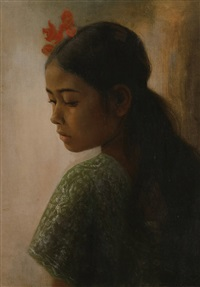 portrait of a young girl by dullah