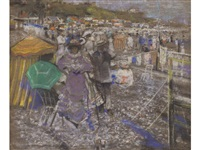 on the beach-bank holiday by james kay