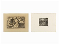 group of 2 lithographs by ernst barlach