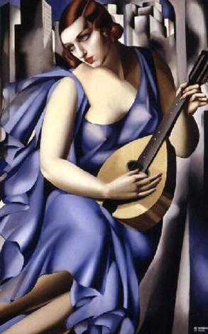 la musicienne by tamara de lempicka