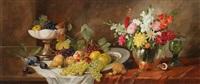 stillleben mit früchten und blumen by alois zabehlicky