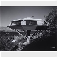 malin (chemosphere house) residence, designed by john lautner, los angeles, california by julius shulman