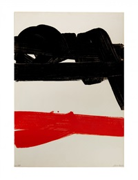 lithographie 27 by pierre soulages