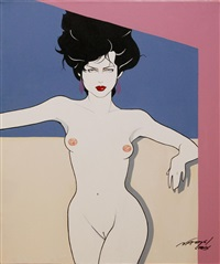 nude female by patrick nagel