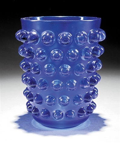 Lalique Mossi Midnight Blue Glass Vase By Lalique On Artnet