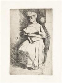 donna con ventaglio by umberto boccioni