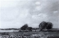 bosham harbour & kingley vale & chiche     ster by henry franks waring