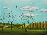 paysage de banlieue by henri rousseau