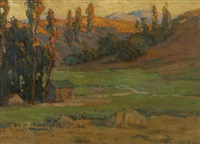 house in a landscape by benjamin chambers brown