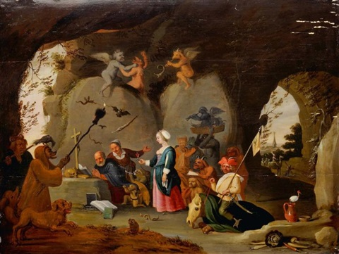 la tentation de saint antoine by david teniers the younger