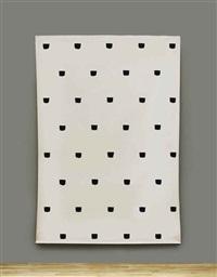 empreintes de pinceau no 50 répétées à intervalles régulieres (30cm) by niele toroni