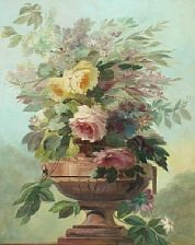 still life with flowers by guillaume vogels