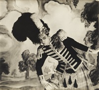 serge lifar, l'ecossaise (3 works) by cecil beaton