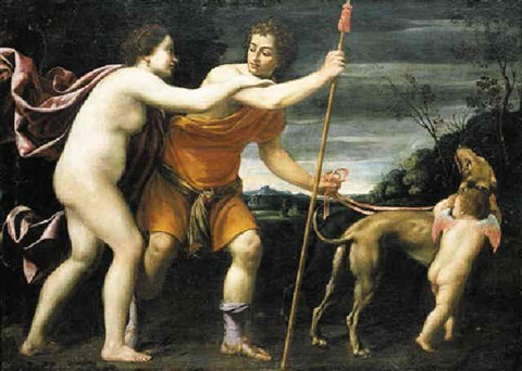 venus and adonis by lucio massari