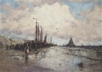 vessels on the beach by george bunn