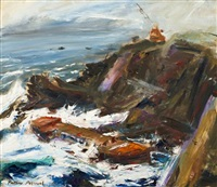 salvaging wreck of himsley i cornwall by matthew perceval