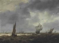 shipping in a choppy sea by hendrick van anthonissen