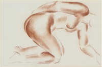 kneeling nude by frank dobson